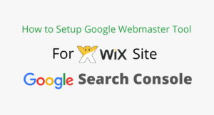 Verify Wix Site in Google Webmaster Tool
